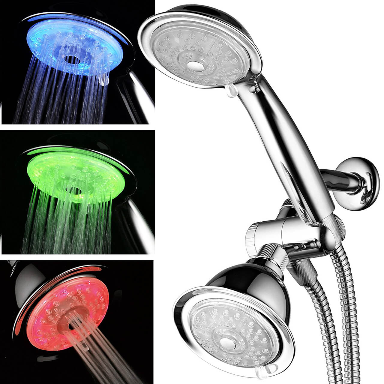 Luminex by PowerSpa 7-Color LED Shower Head