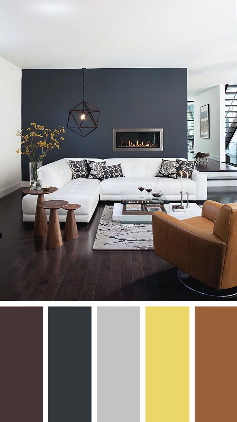 living room color design. 4  Defining Space With The Accent Wall 7 Best Living Room Color Scheme Ideas And Designs For 2018
