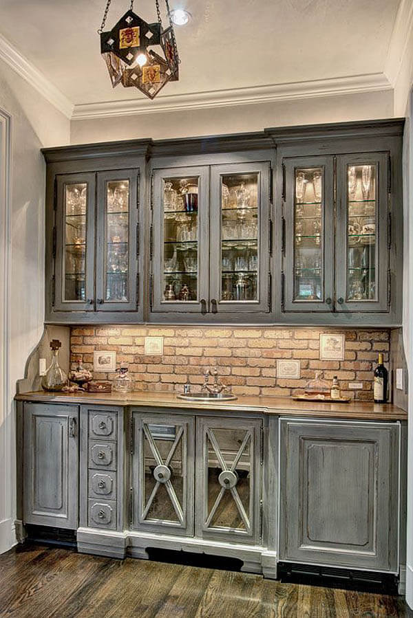 Shades of Slate Gray Cabinets