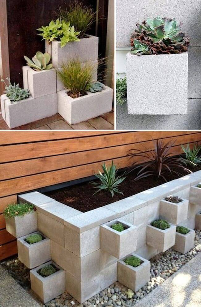Garden Planter Ideas container gardening ideas for your home Cinder Block Garden Container Ideas