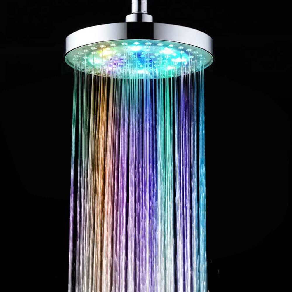 INLIFE Color-Changing LED Light Shower Head