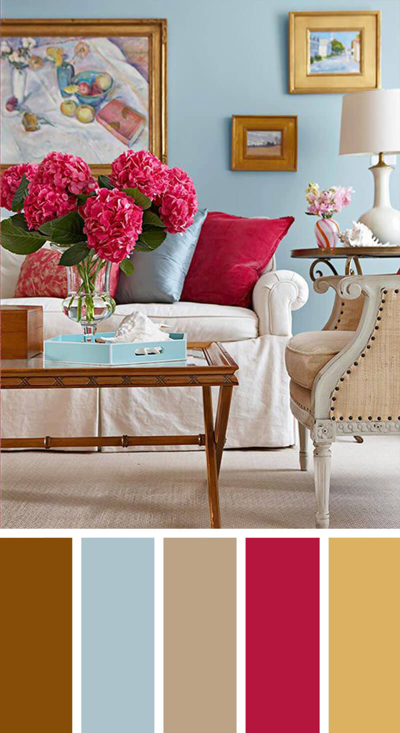 living room color design. The Pop Of Color 7 Best Living Room Scheme Ideas And Designs For 2018