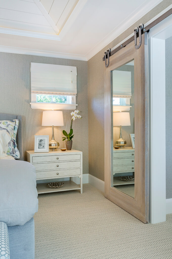 Sliding Barn Door Standing Mirror