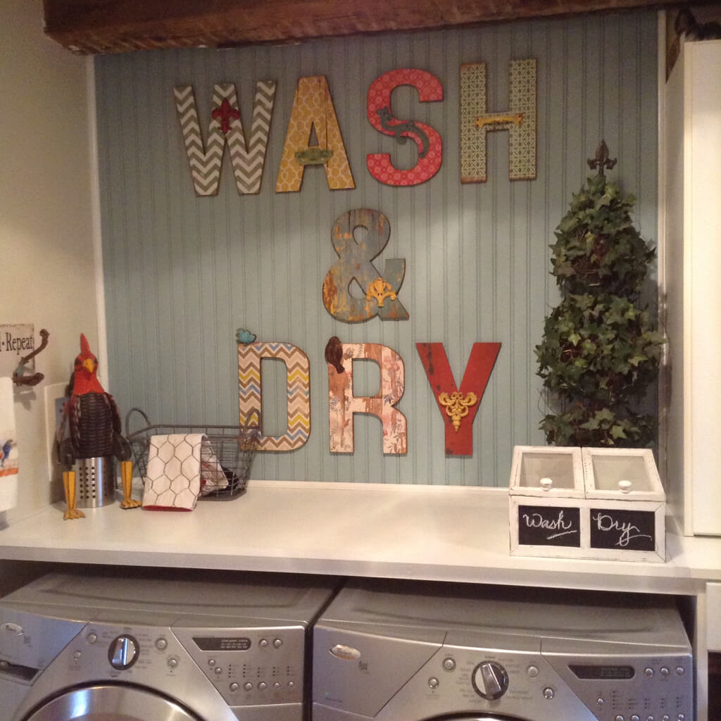 DIY Wash And Dry Wall Art