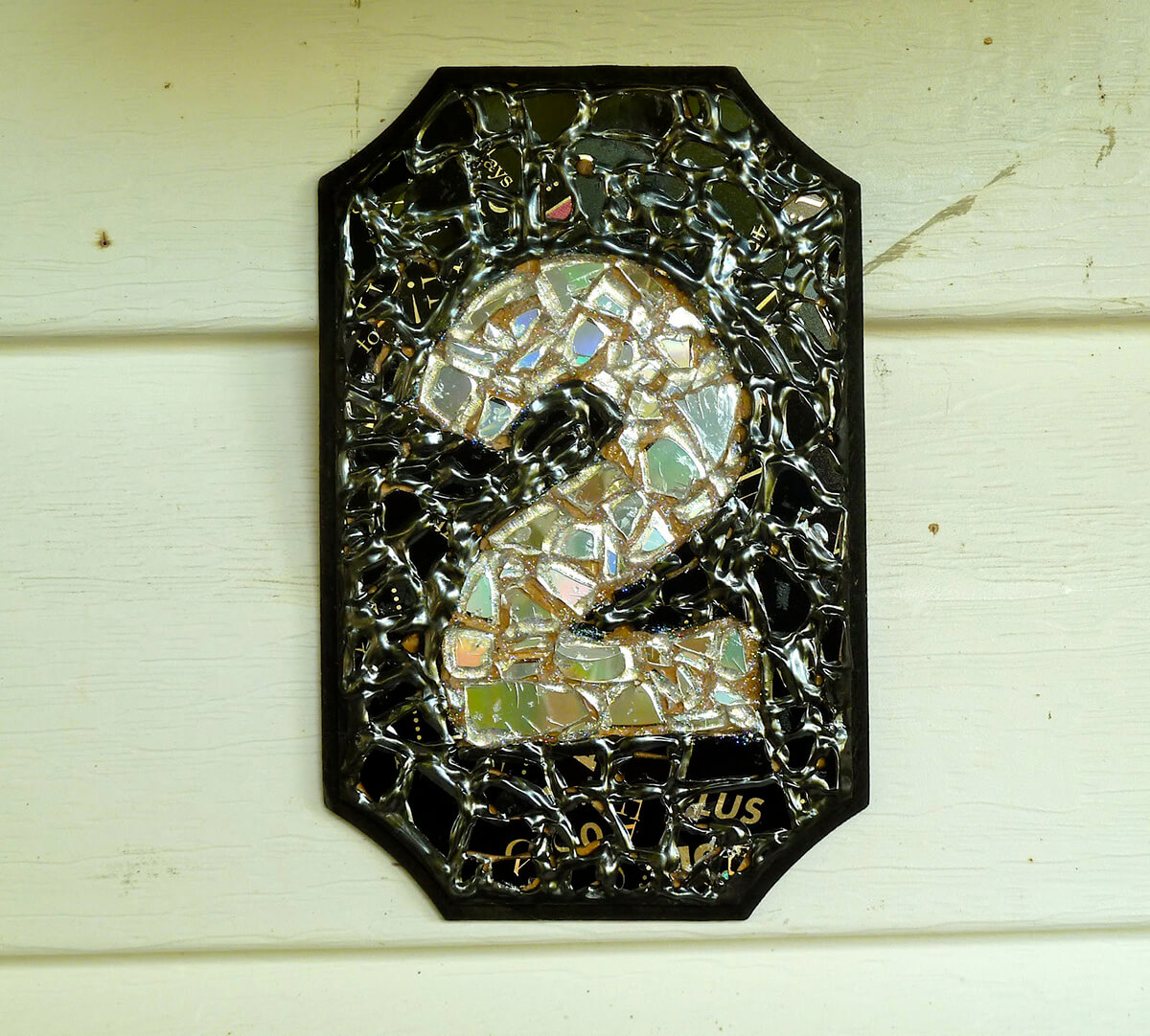 Recycled CD Mosaic Plaque Project