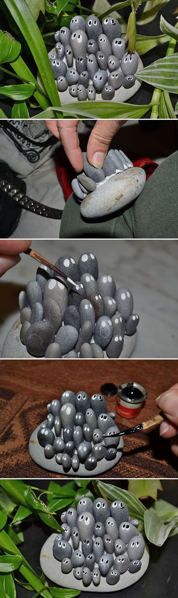 Cute Rock Family DIY Garden Project with Rocks