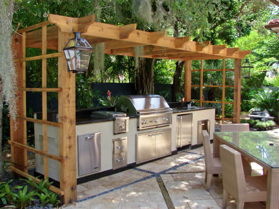 6 food prep station with pergola