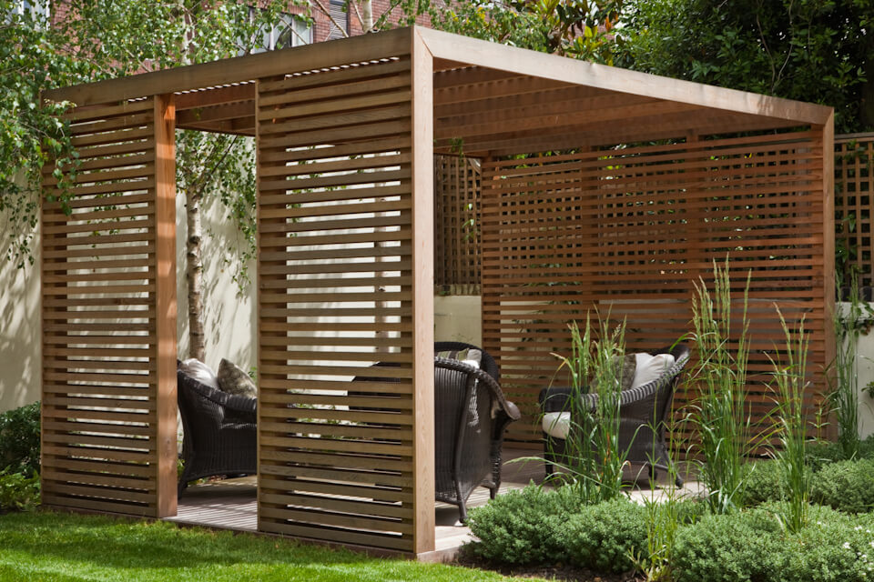 Geometric Harmony Freestanding Cubic Pergola - 33 Best Pergola Ideas And Designs You Will Love In 2018