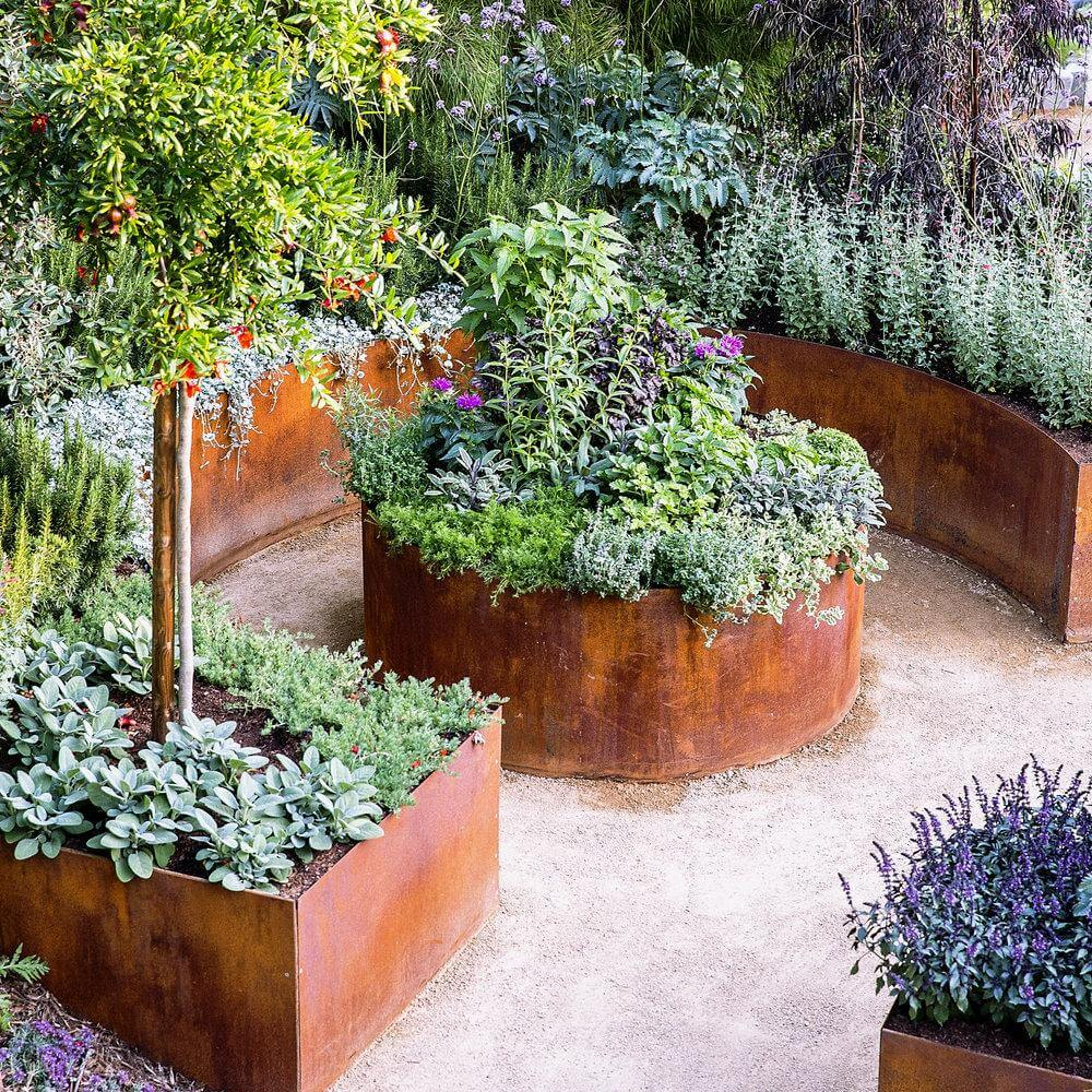 Planter Garden Ideas 33 best built in planter ideas and designs for 2018 diy rusty metal garden planters workwithnaturefo