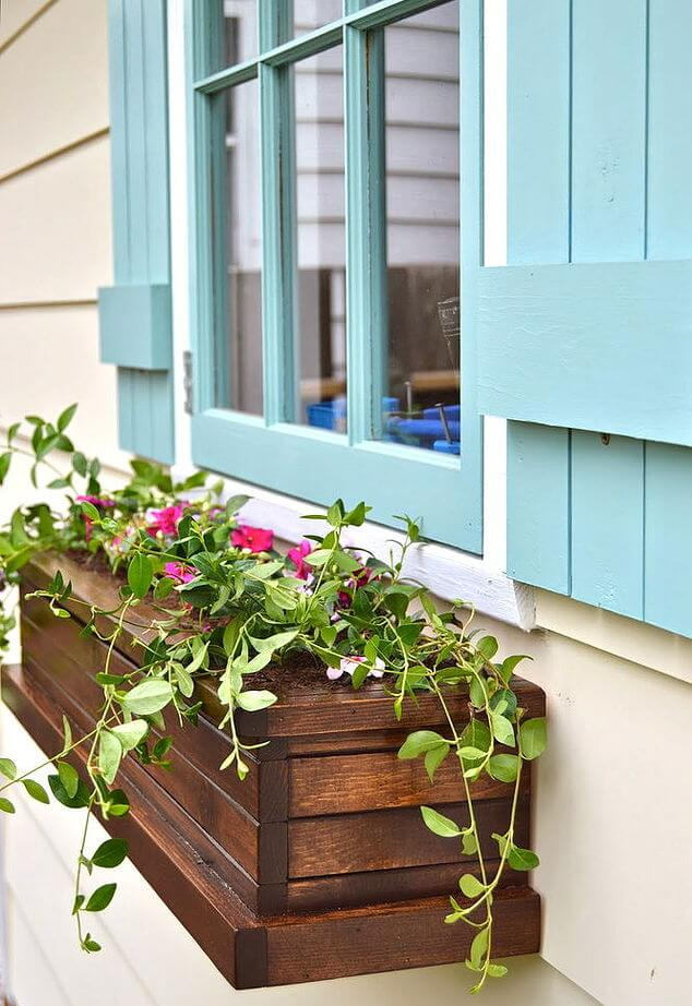 Homemade Wood Window Flower Box