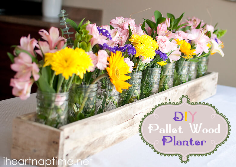 Pretty Pallet Wooden Planter