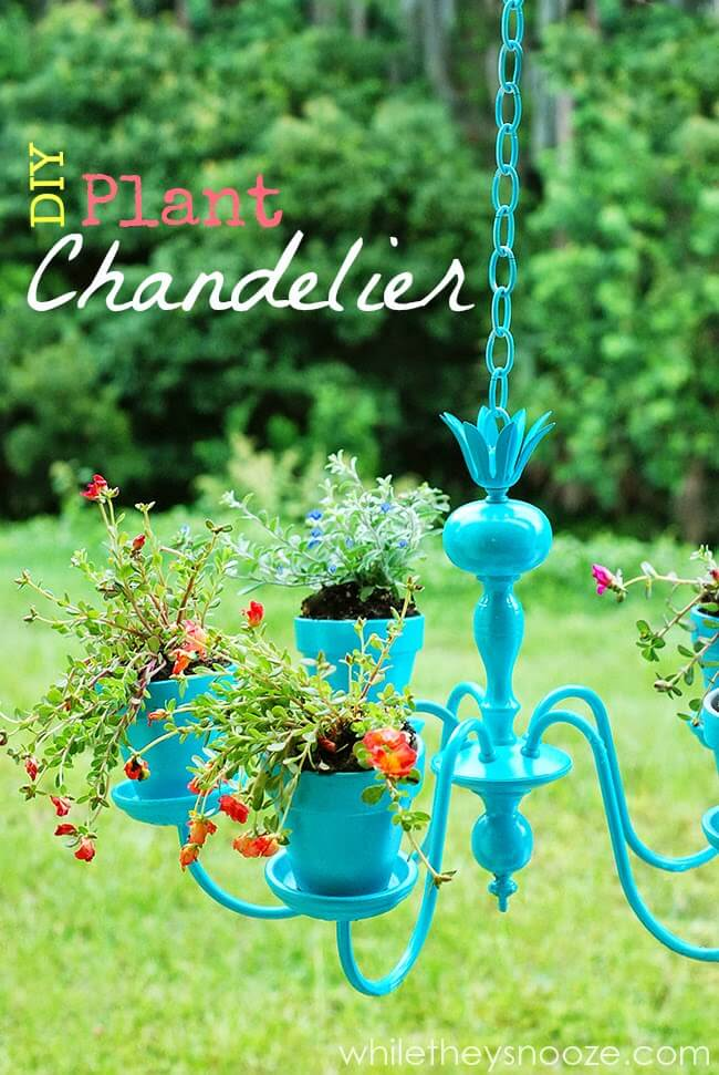 Easy DIY Plant Chandelier Decoration