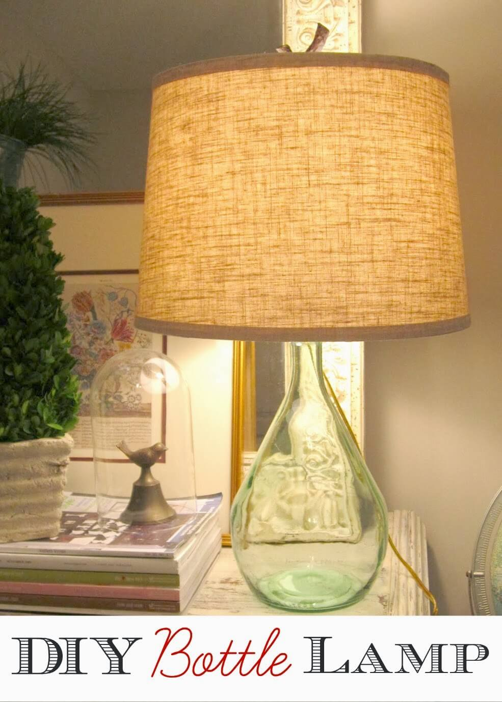 Ship's Bottle Repurposed Lamp