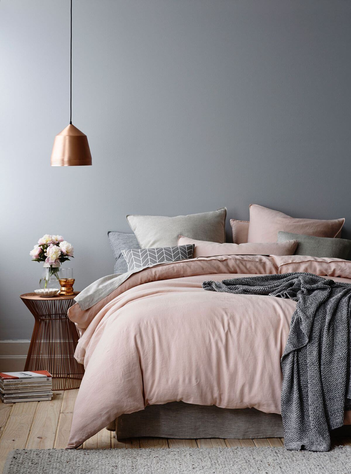 Parisian Pink & City Slate Bedroom