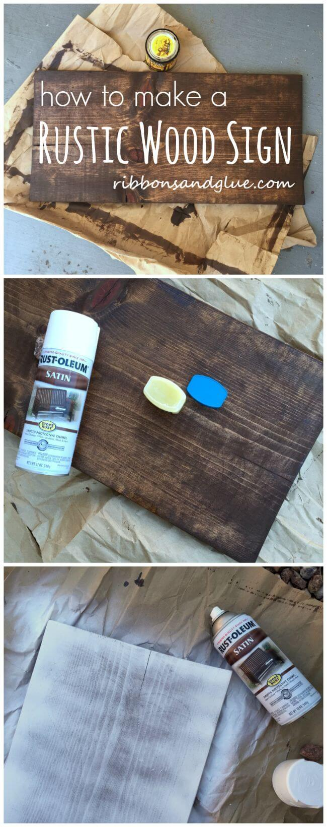 Rustic Wood Sign Project Tutorial