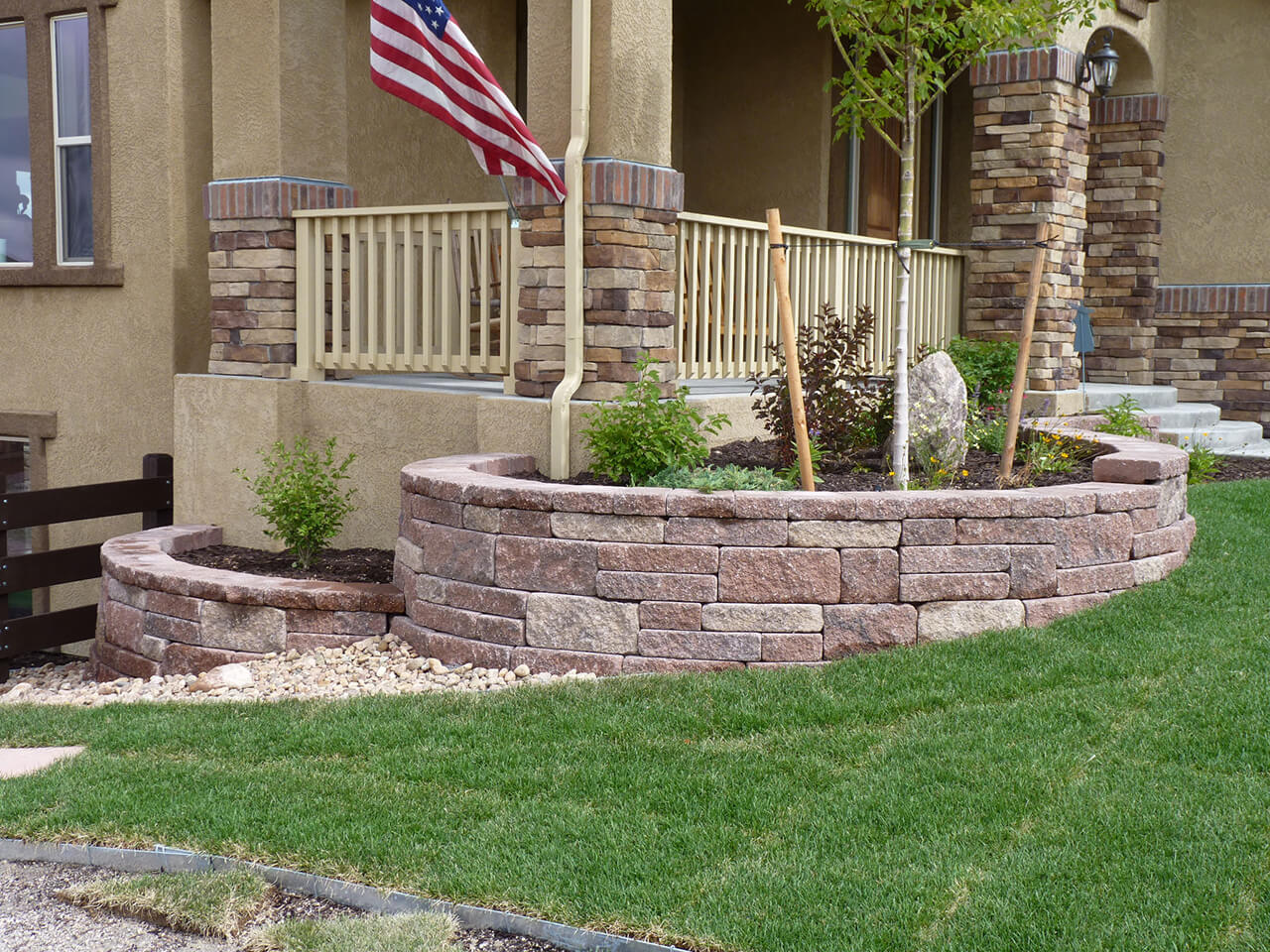 Diy Stacked Stone Plant Beds