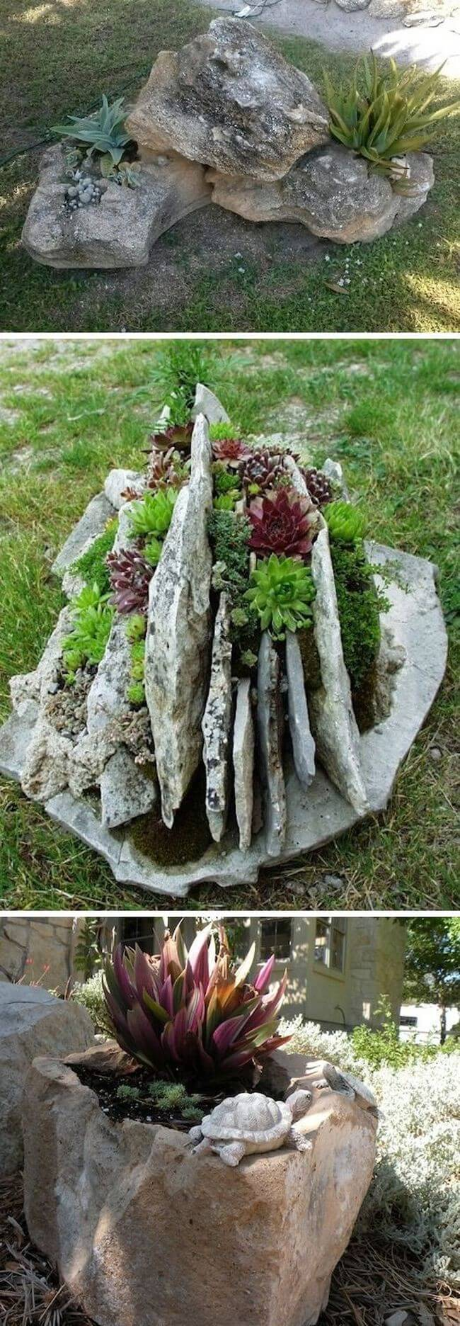 DIY Stone Garden Container Tutorial