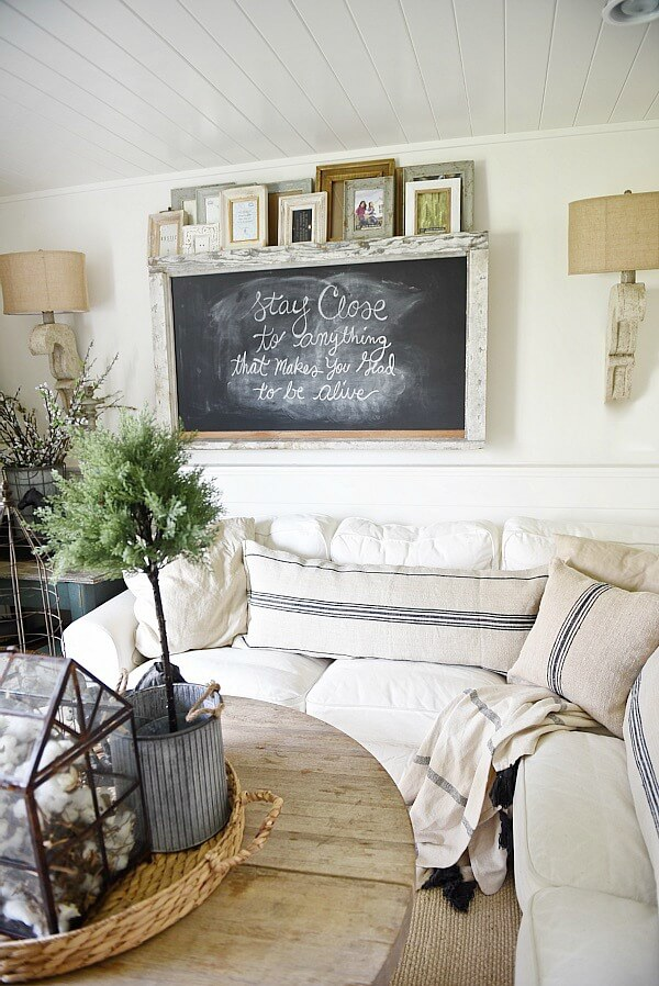 Edwardian School House Wall Mounted Chalkboard