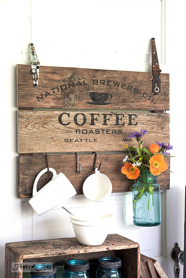 Coffee Roasters Wood Kitchen Art