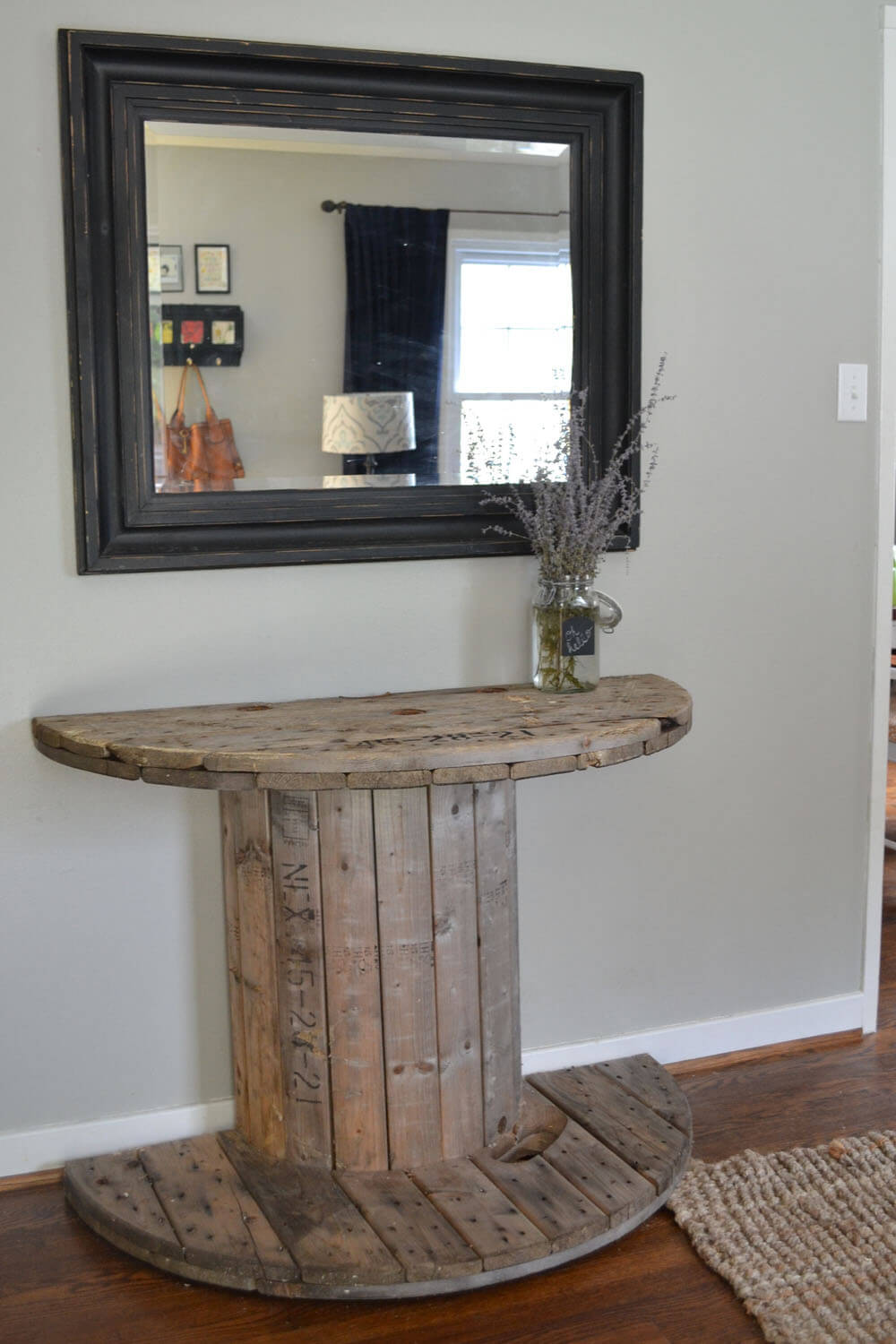 Ordinaire Rustic Industrial Spool Side Table