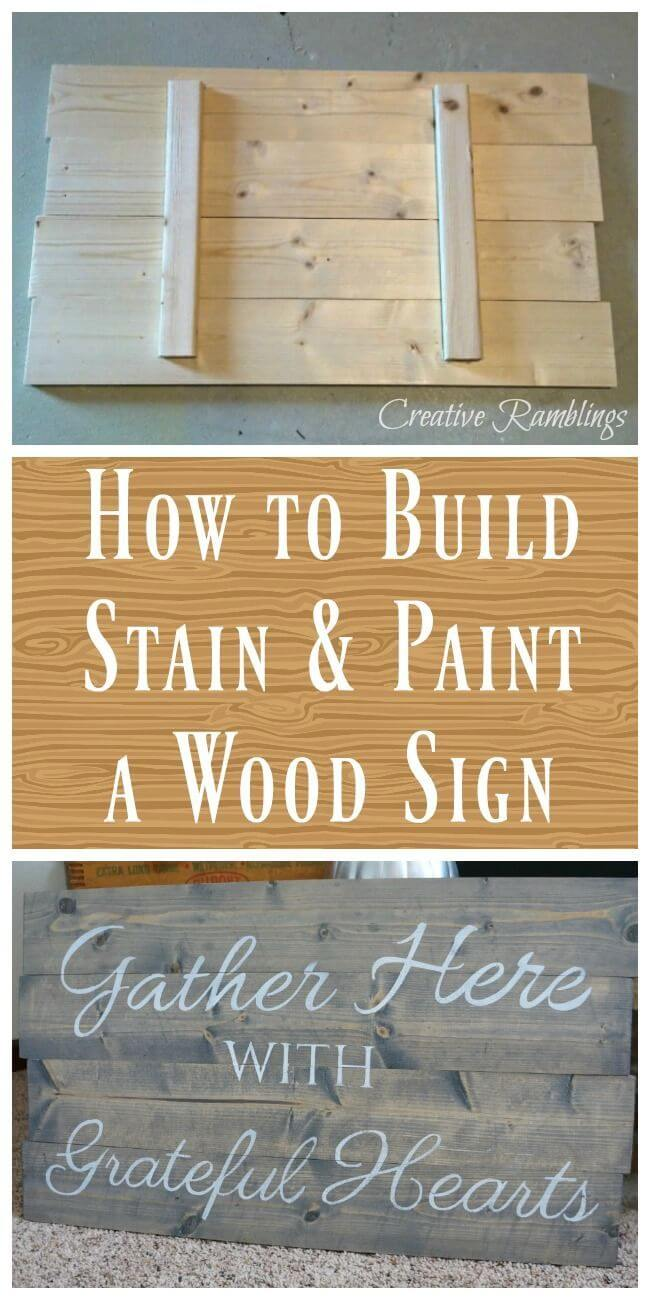 diy stained and painted wood idea - Wooden Signs With Sayings
