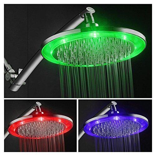 hotelspa 10inch led light shower head