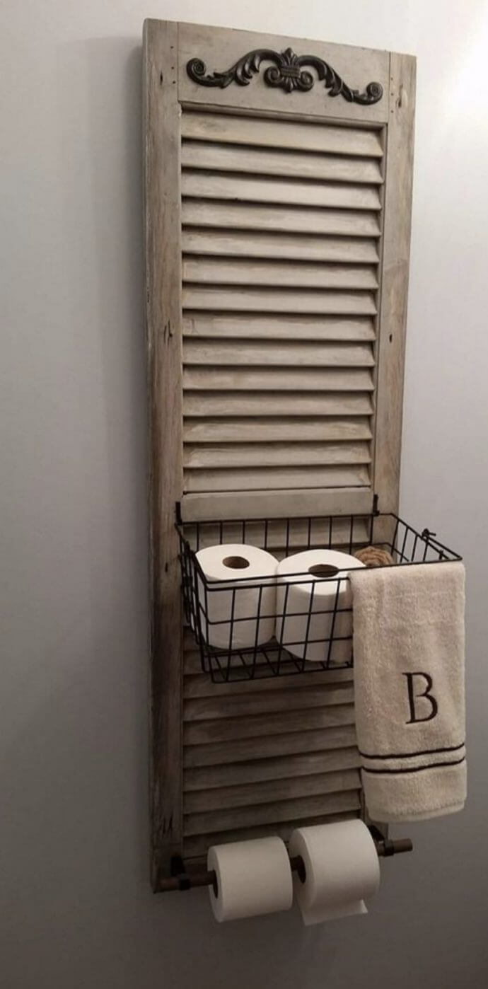 Window Shutter Toilet Paper Holder