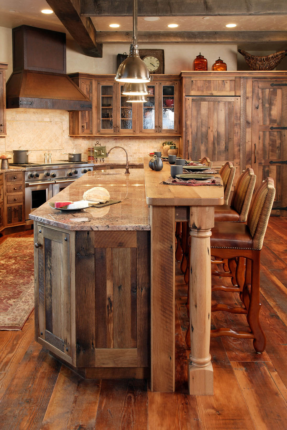 11. A Walk In The Woods Paneled Kitchen