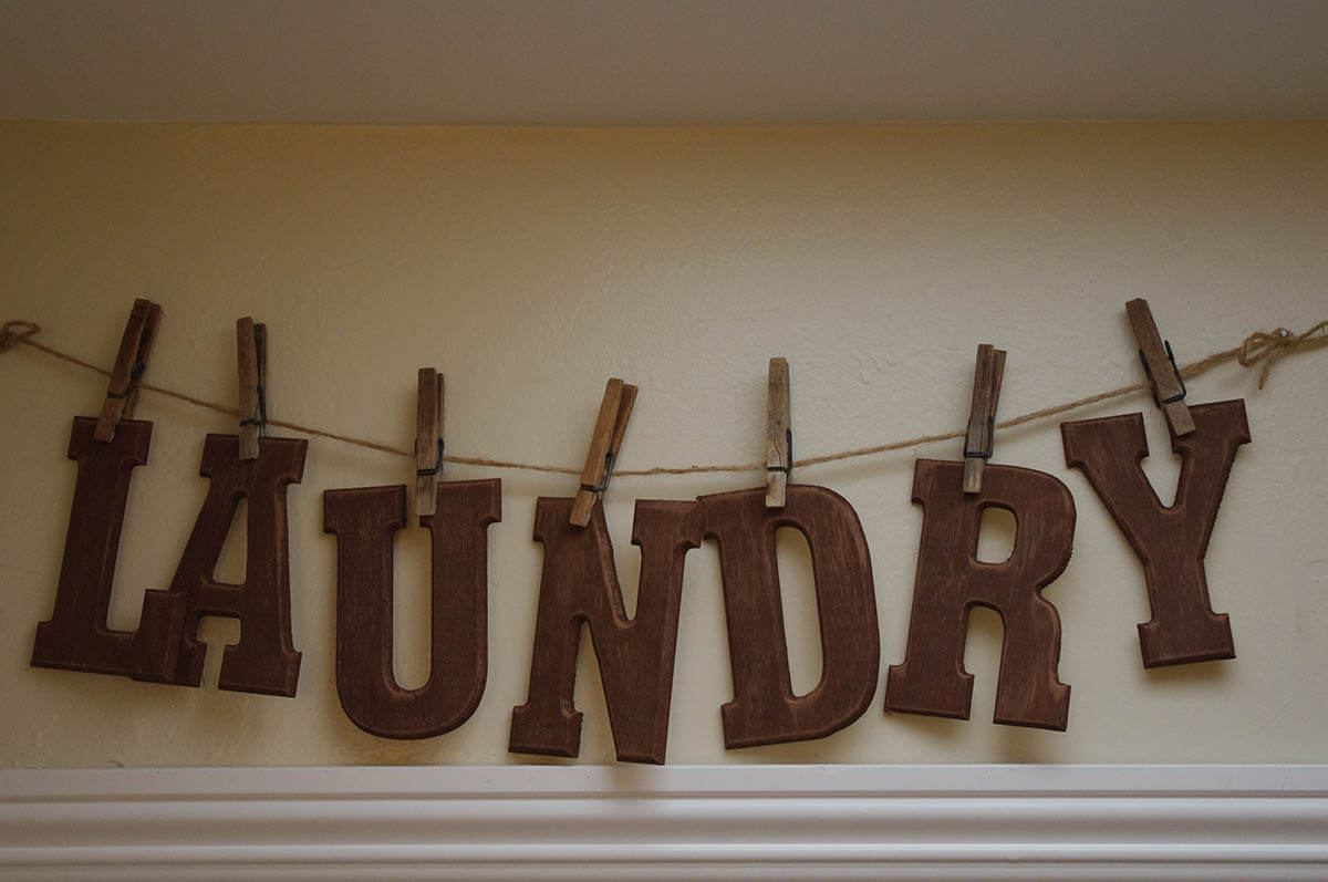 Kitchen Wall Sign Wood Letters