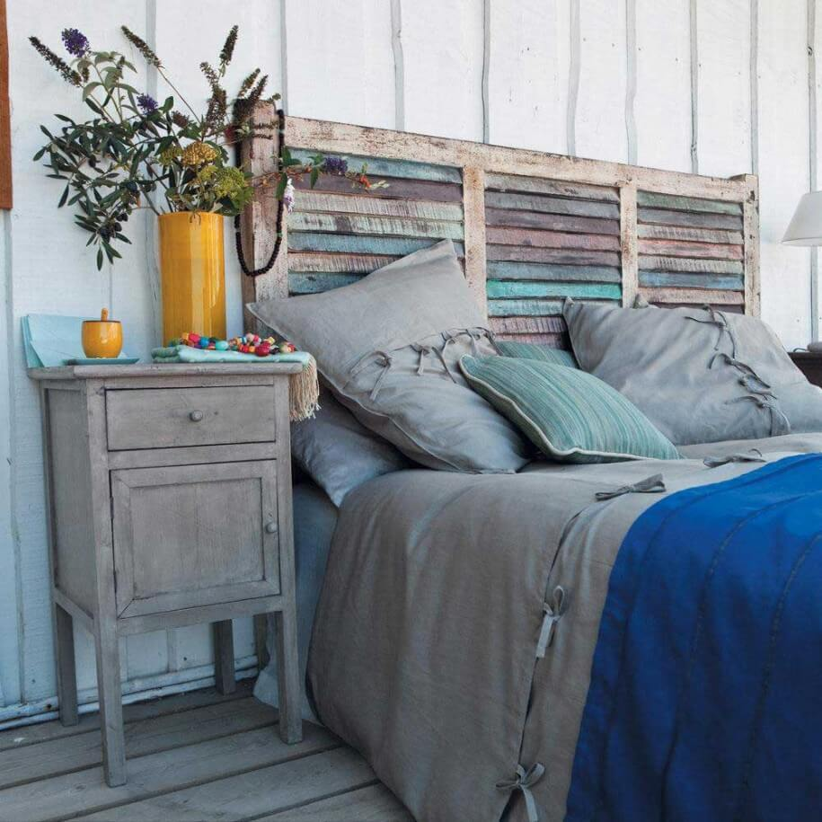 Shabby Chic Window Headboard