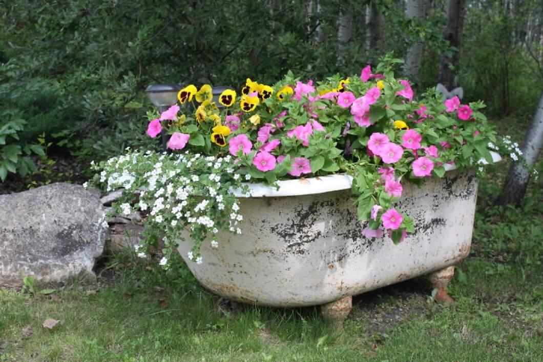 Antique Bathtub as Garden Décor