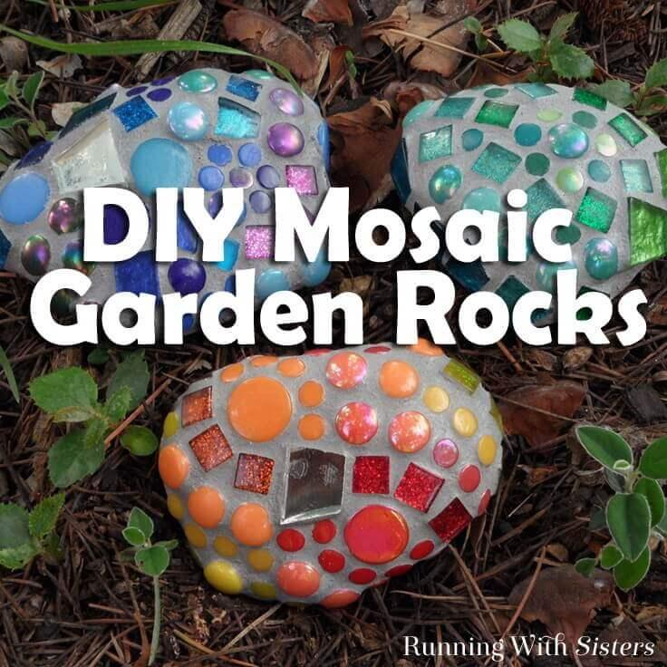 DIY Mosaic Rocks Garden Decorations