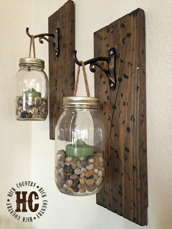 Pacific Ambiance Mason Jar Sconces