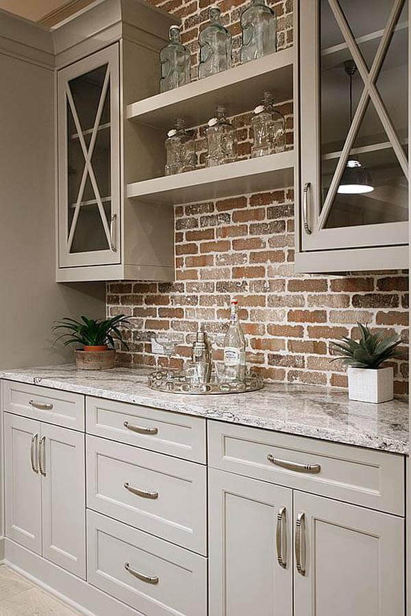 Brooklyn Brownstone Rustic Wood & Brick Cabinet Fixture