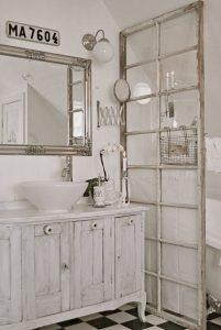Antique Window Bathroom Privacy Divider Homebnc - Bathroom privacy partitions