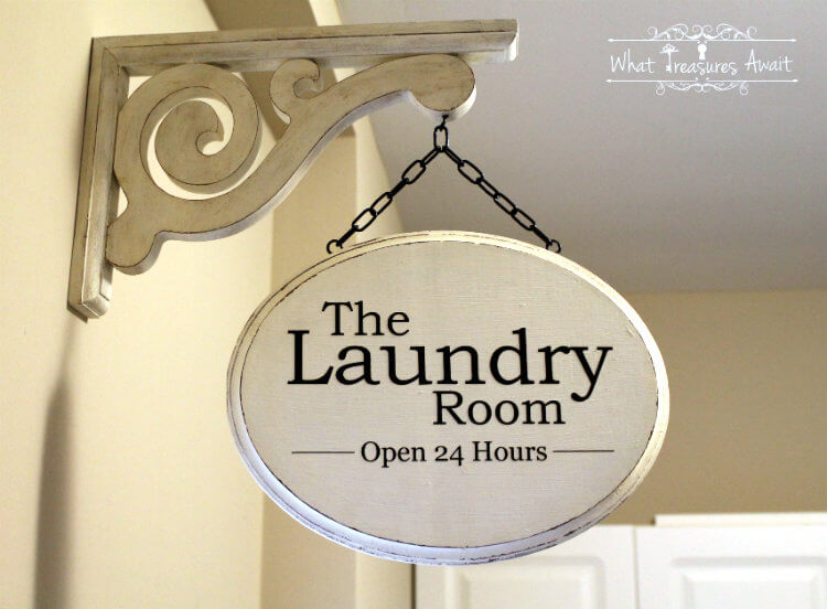 DIY Laundry Room Shop Sign