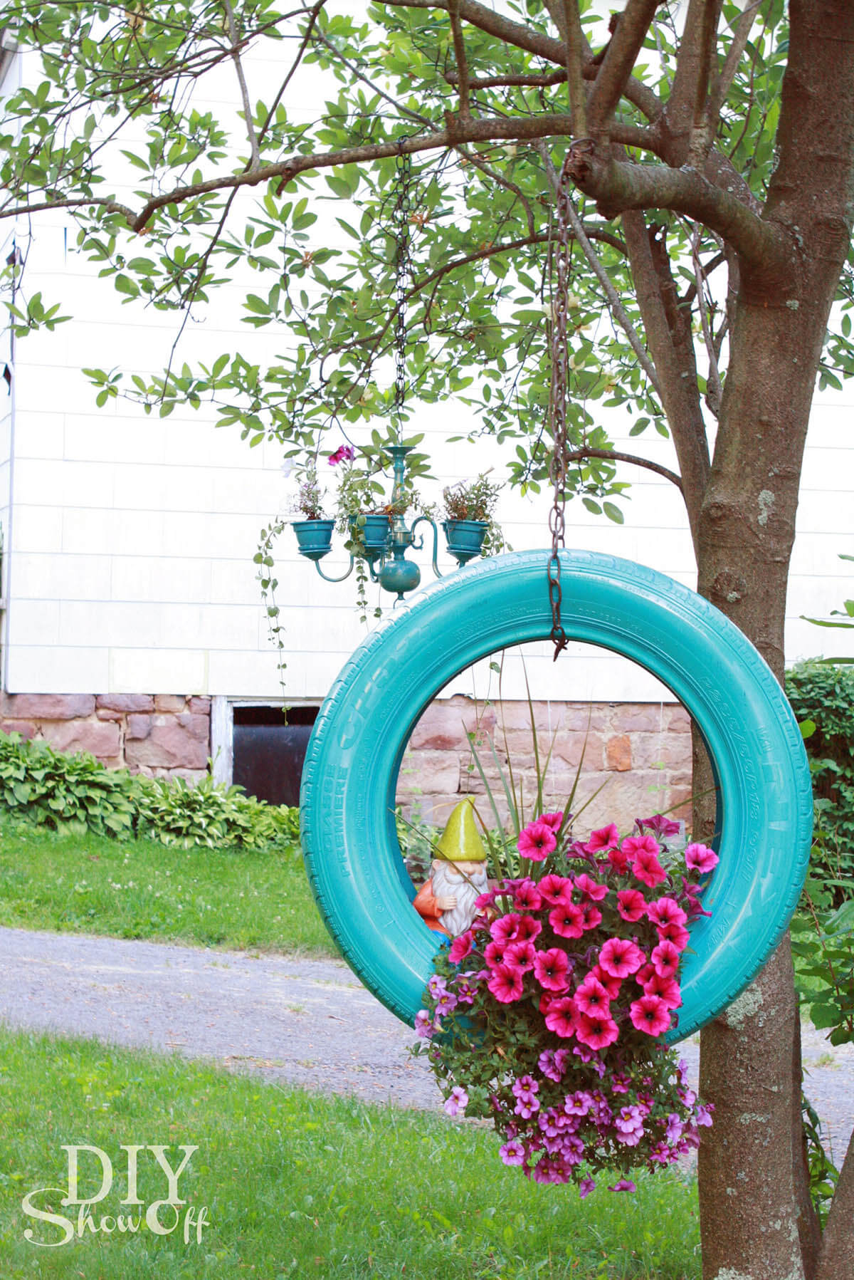 Painted Tire Hanging Decoration