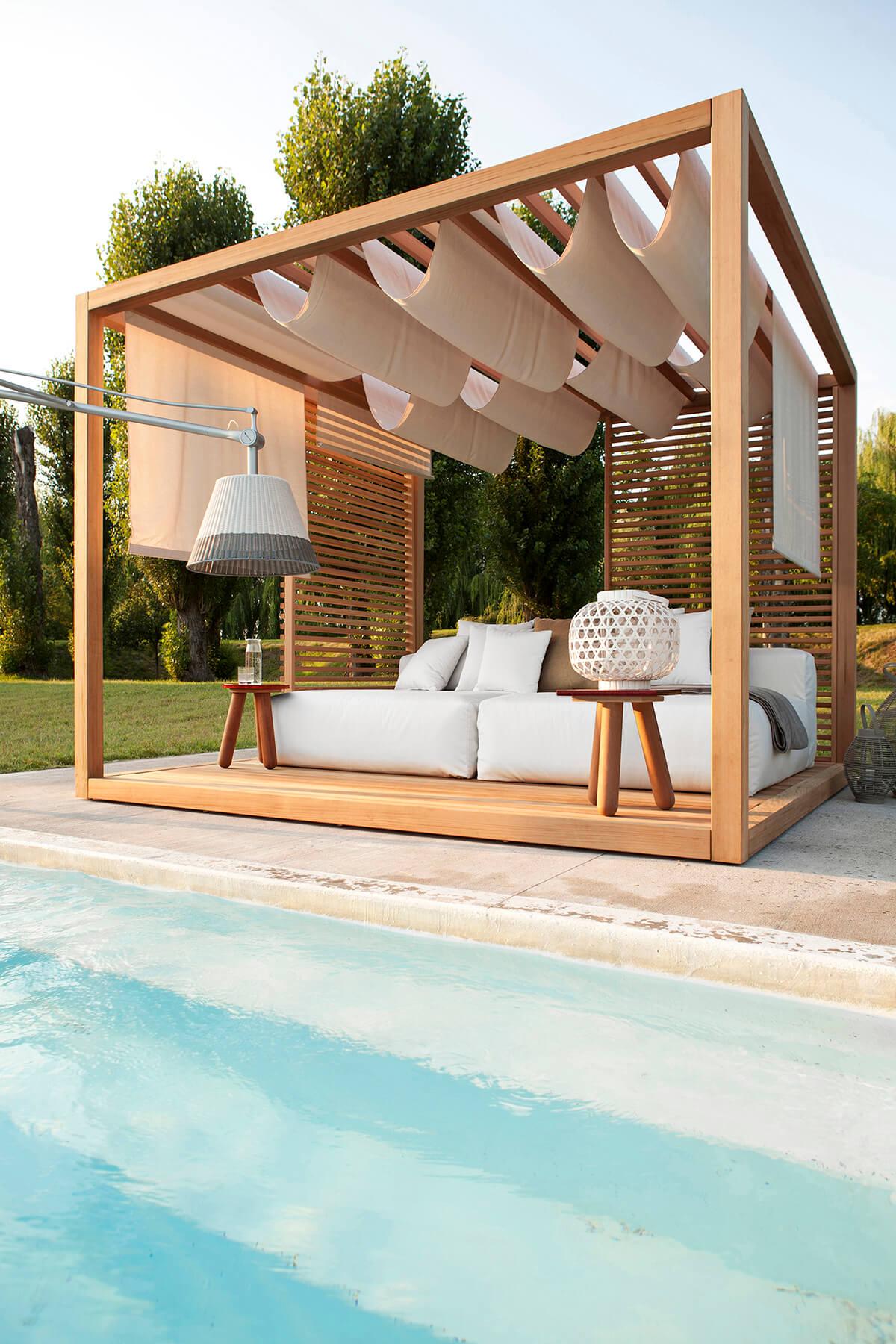 Polynesian Bliss Poolside Pergola