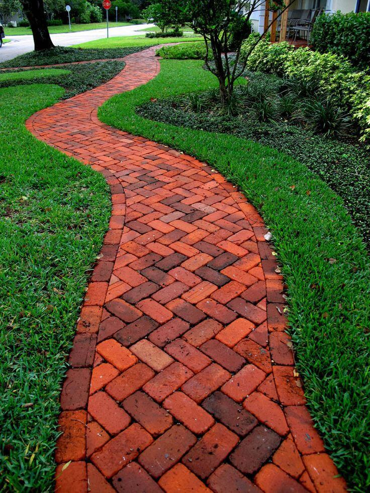 16 design ideas for beautiful garden paths style motivation for Cement garden paths