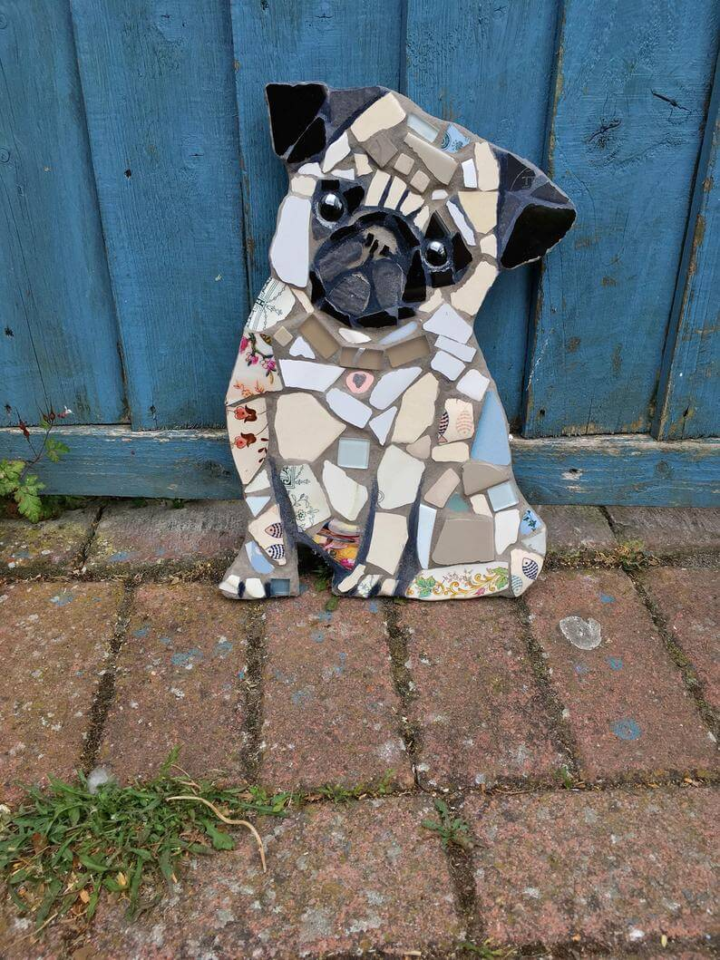 Adorable Animal Mosaic Garden Ornament