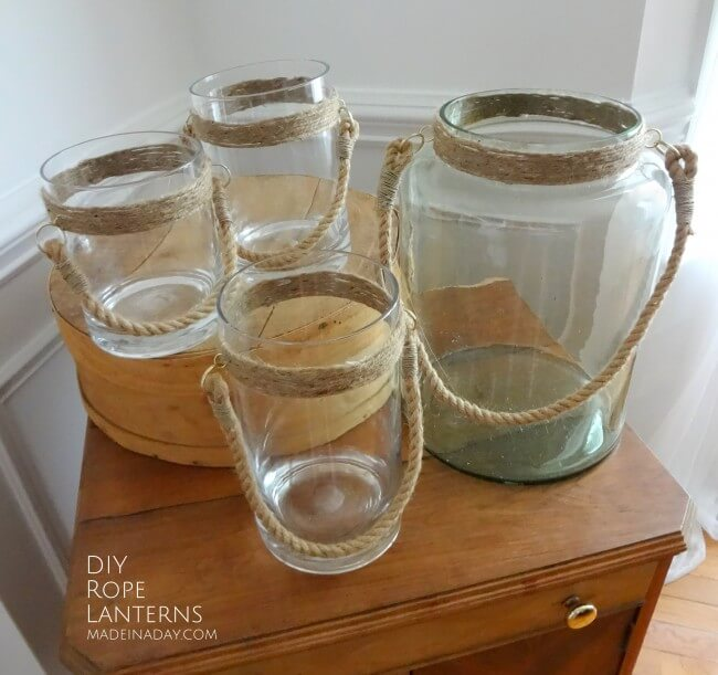 Jug and Knot Mason Jar Rope Lanterns