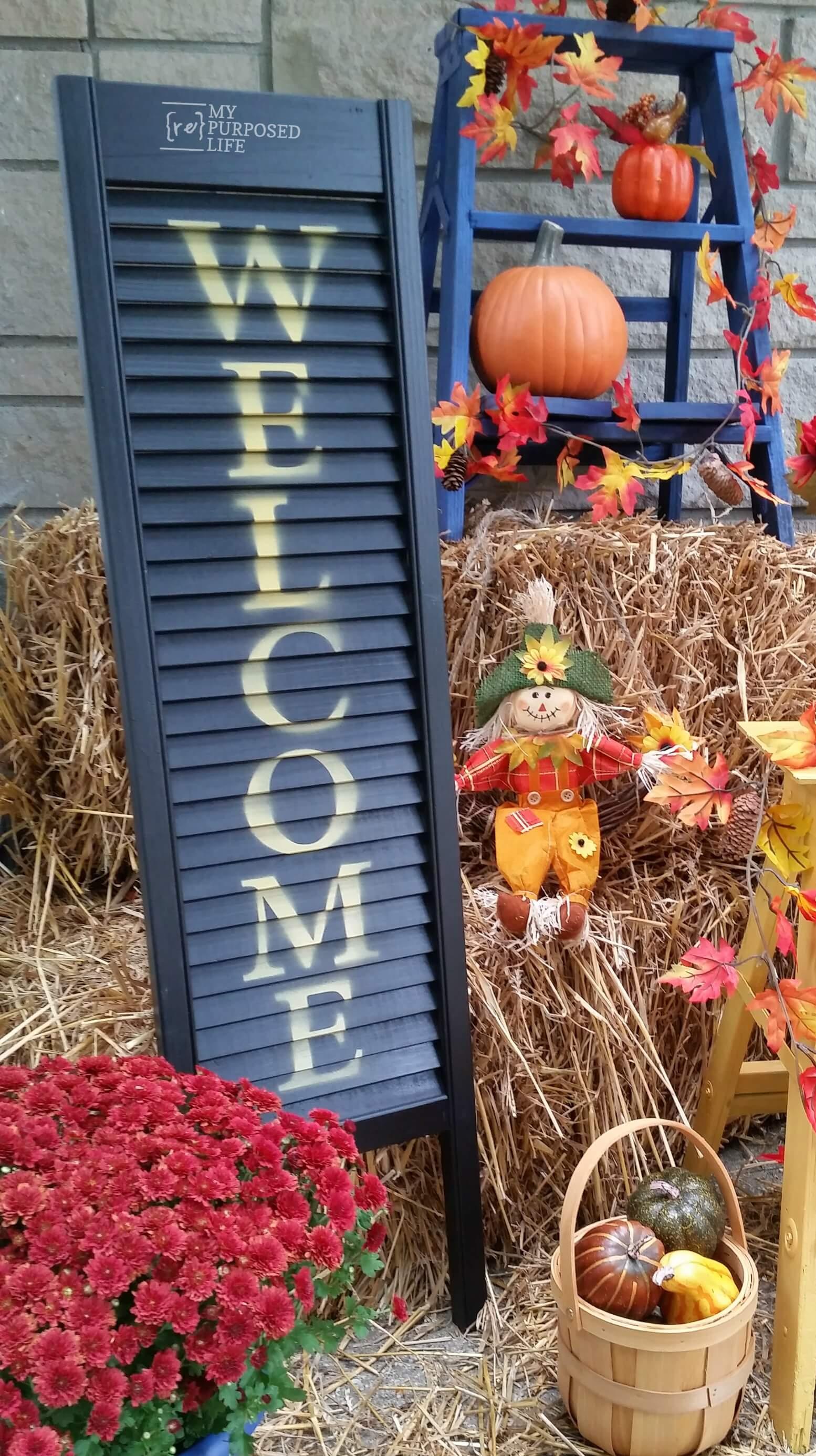 DIY Outdoor Welcome Sign