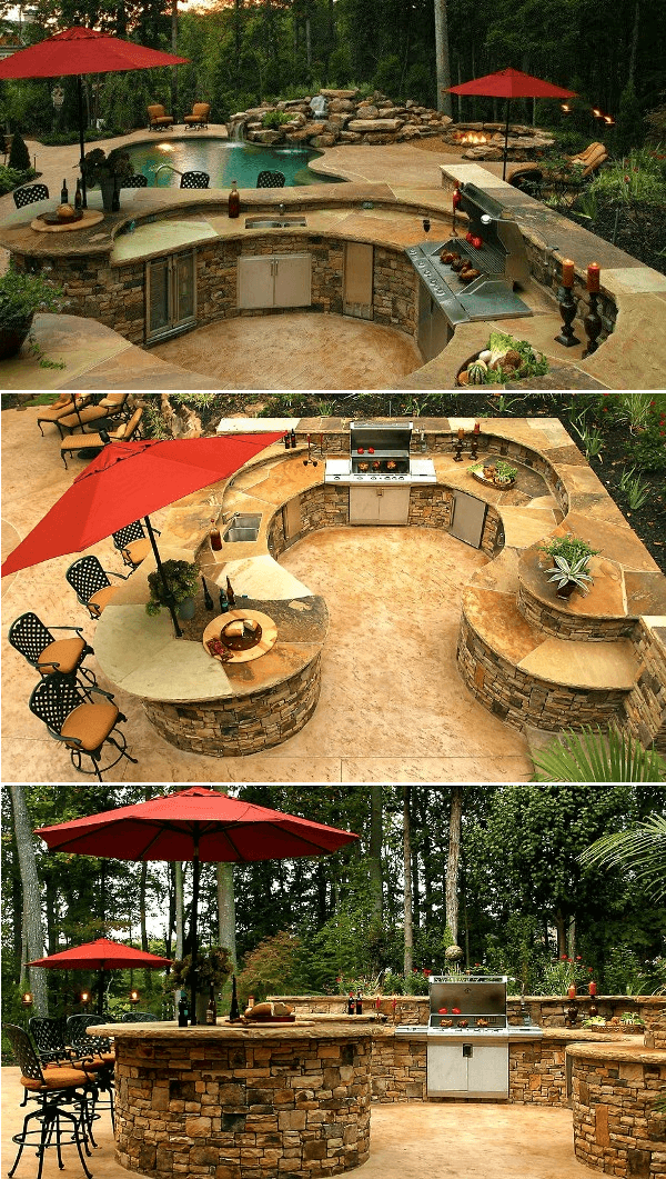 Outdoor Kitchen and Pool Bar