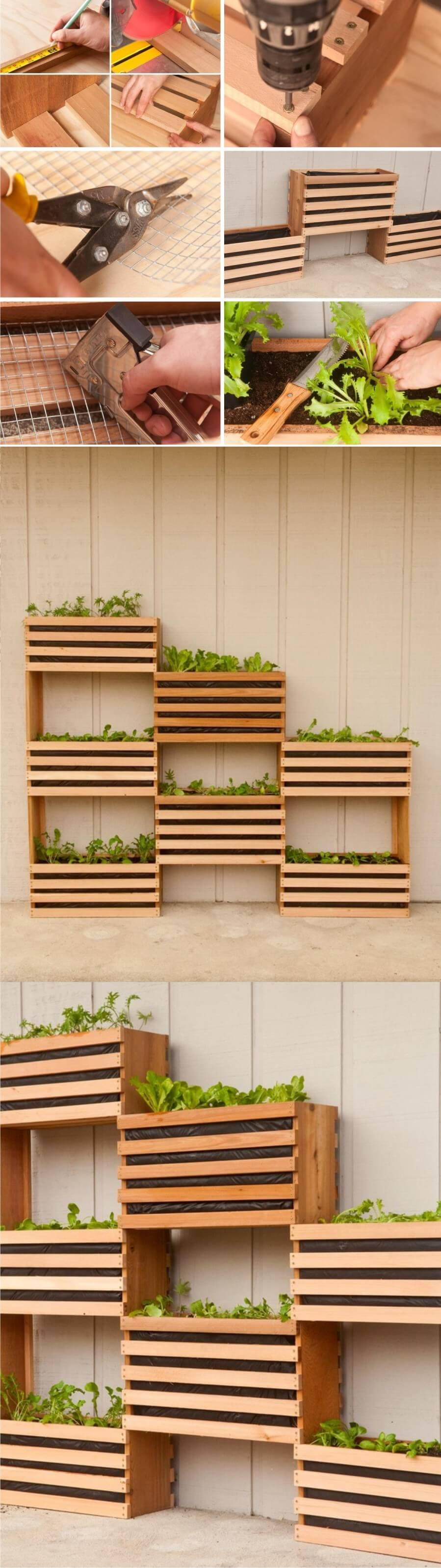 DIY Wood Crate Planter Boxes 33 Best