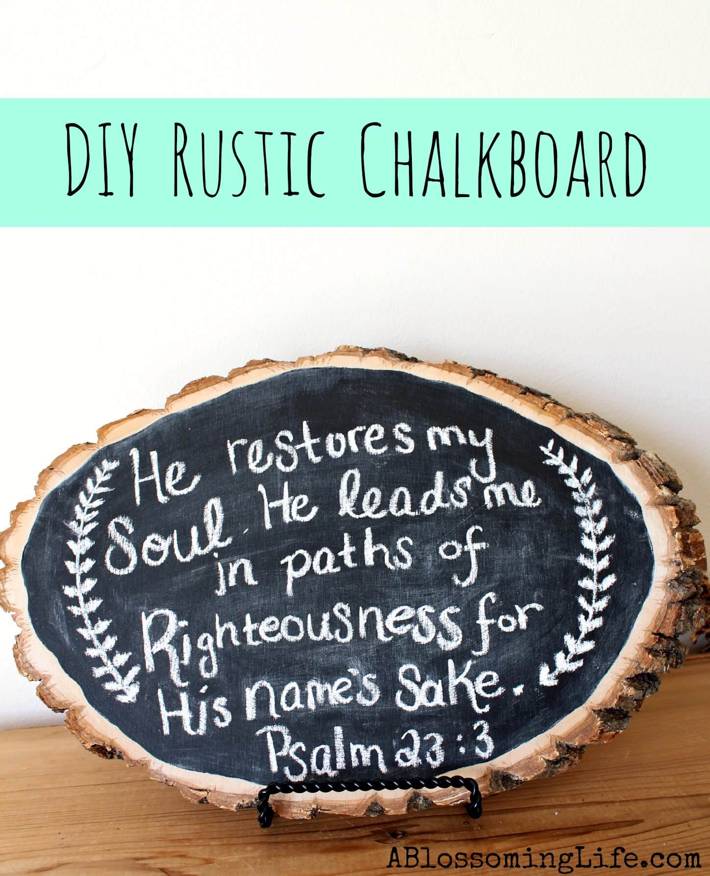 Forest Finds DIY Chalkboard