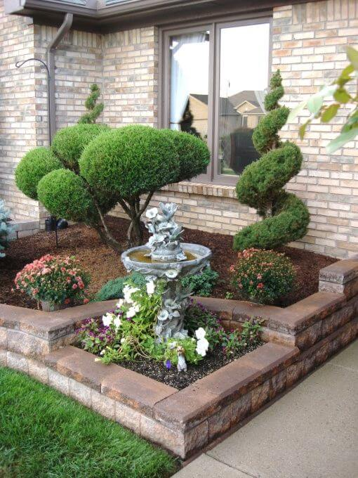 Easy Care Evergreen Entryway & 50 Best Front Yard Landscaping Ideas and Garden Designs for 2018