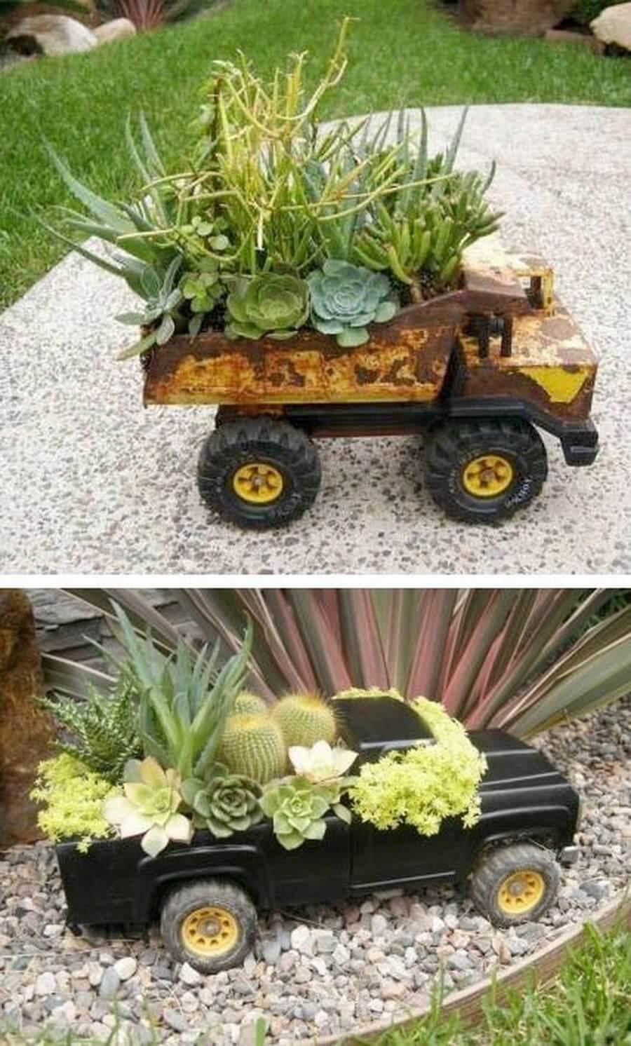 Gardeners Supply Company Modern Blue Steel Mobile Garden Planter Cart Rolling Patio Planter on Wheels
