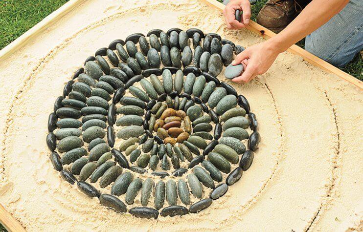 DIY Pebble Mosaic Garden Project