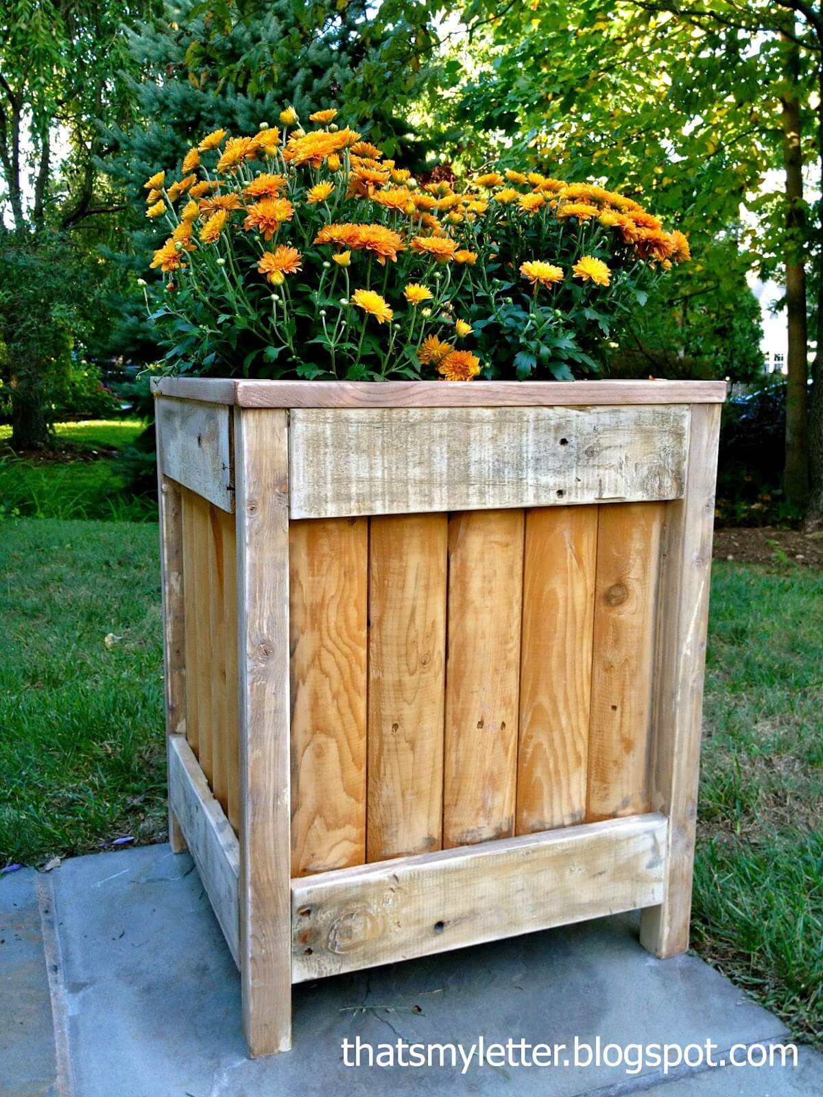Rustic Large Wood Planter Box