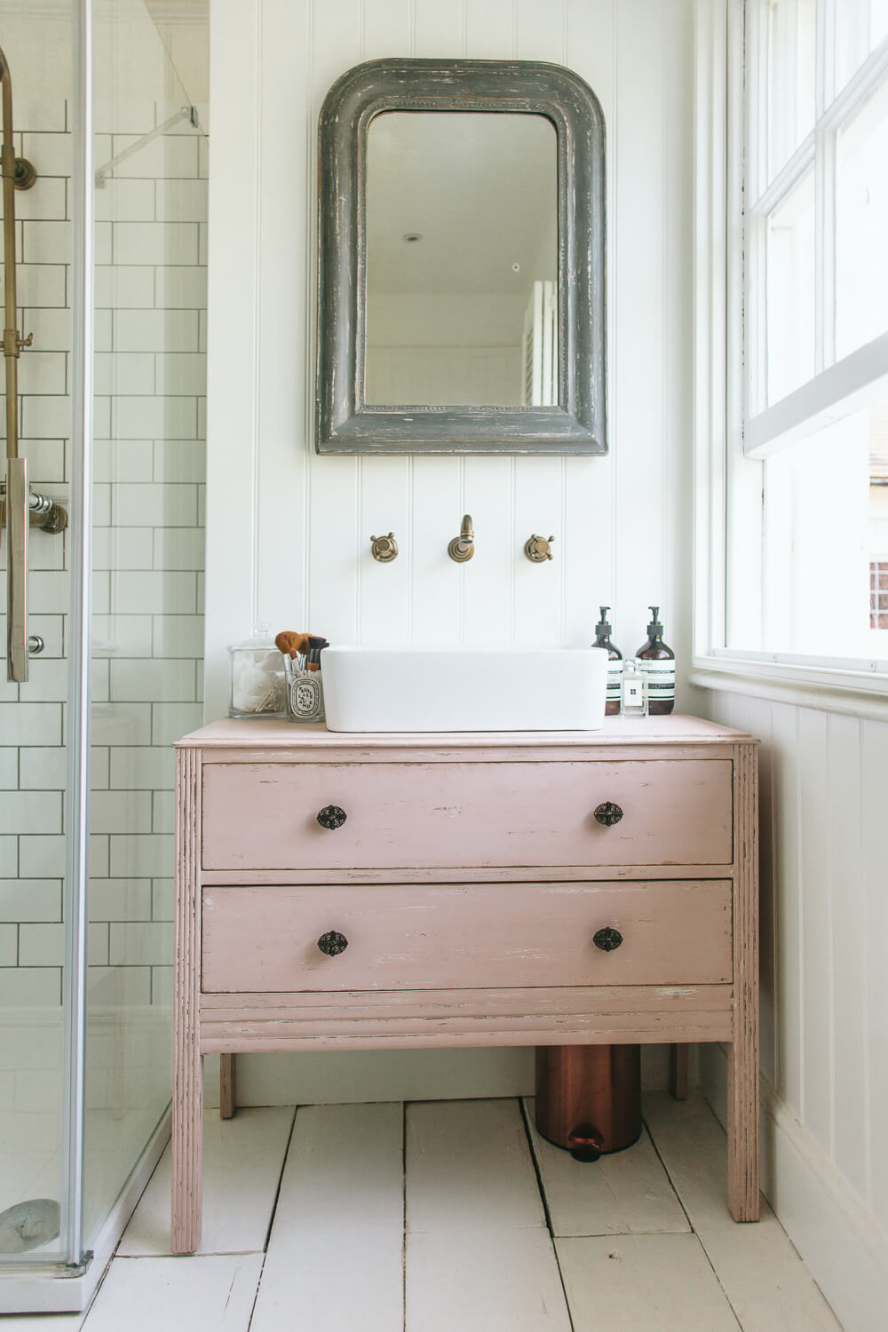 DIY Upcycled Dresser Bathroom Vanity
